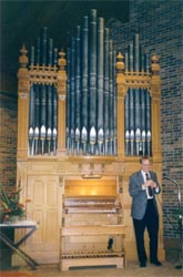Hinners organ at its new location at Madonna Towers, Rochester, MN